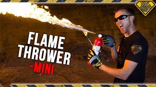 How to Build a Mini Flamethrower! TKOR Makes The Best DIY Flamethrower Using A Fire Extinguisher!