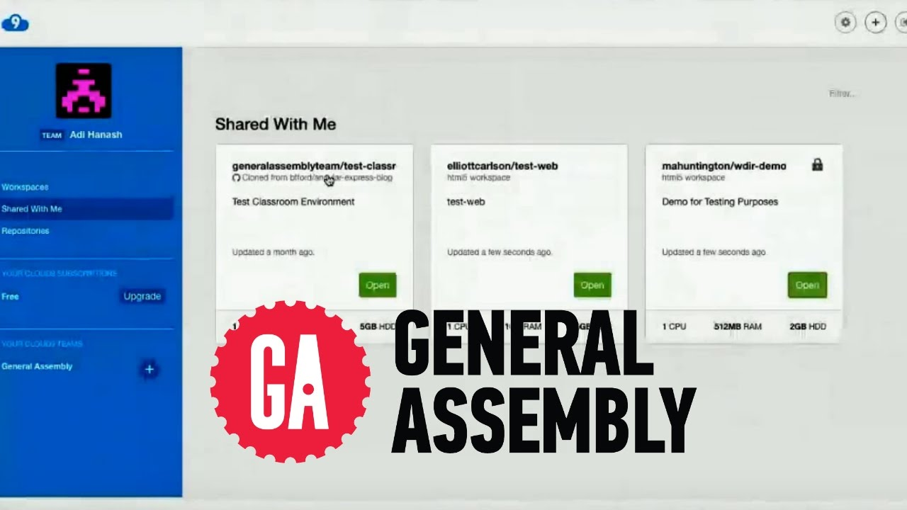 General Assembly WDI Remote Coding Bootcamp Walkthrough with Adi
