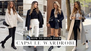 HOW TO BUILD A CAPŠULE WARDROBE | BASICS YOU NEED THIS AUTUMN WINTER | Kate Hutchins