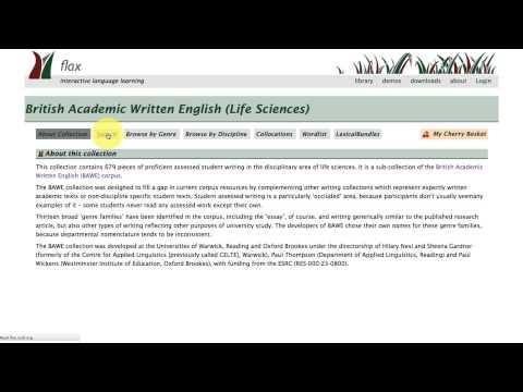 5. FLAX British Academic Written English (BAWE) Collections