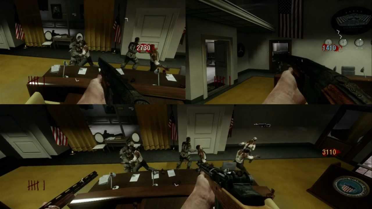 Black Ops Zombie Five - 3 Player SplitScreen Gameplay HD