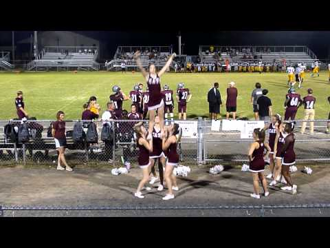 Central JV Cheer: 1st Game Stunts & Jumps