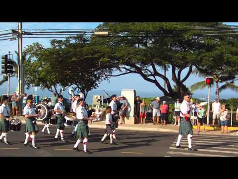 Isle of Maui Pipe Band Whale Day 2011