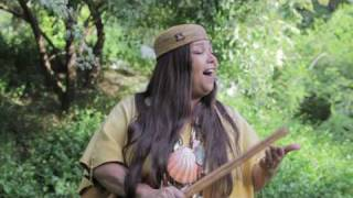 Traditional southern california tribal song by traditionalist jacque nunez of journeys to the past. filmed at heritage park native village in santa fe sp...