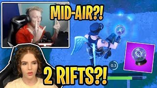 Streamers First Use of the *NEW* Rift-to-Go and Their Reaction! - Fortnite Best and Funny Moments