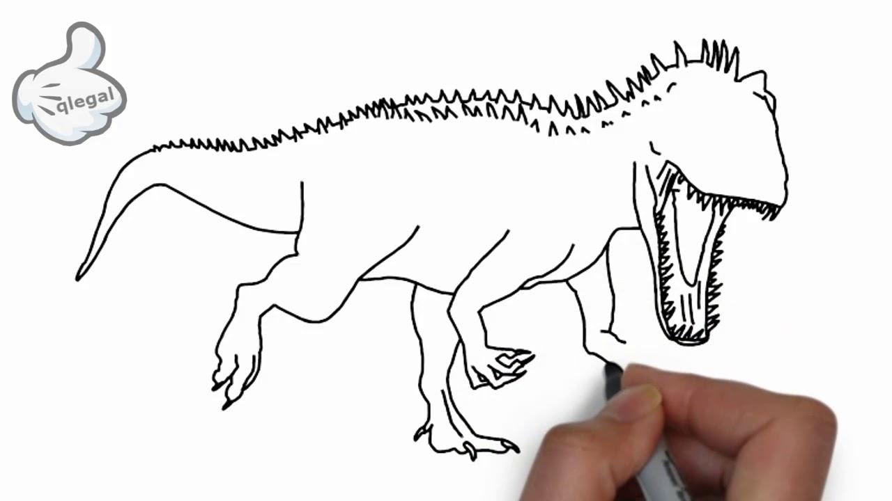 Como Desenhar Dinossauro Indominus Rex Youtube