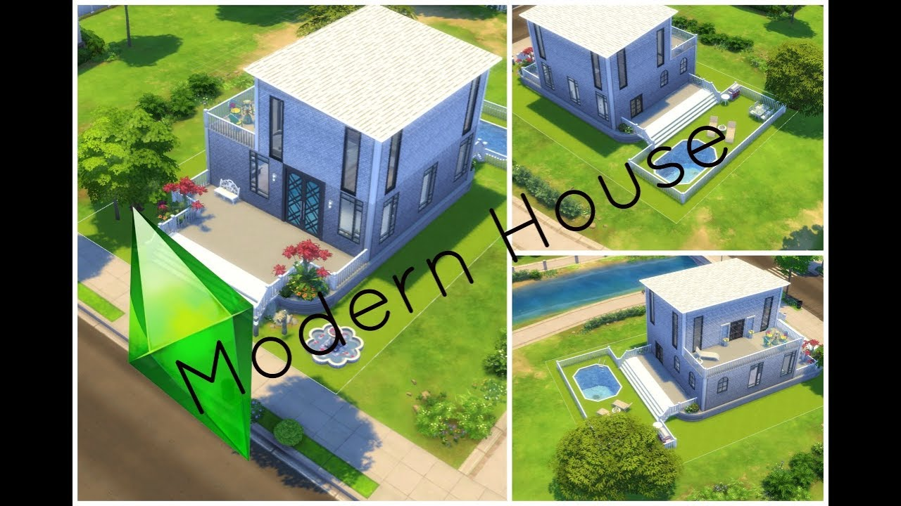 SIMS 4 - MAISON MODERNE SIMPLE ET EFFICACE - YouTube