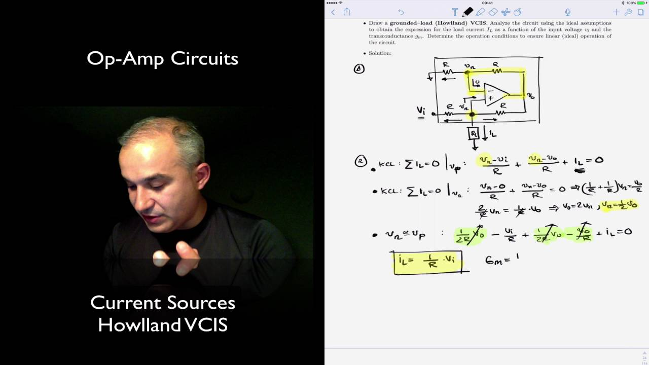 Op Amp Circuits Howlland Current Source Vcis Youtube Constant Sink Circuit
