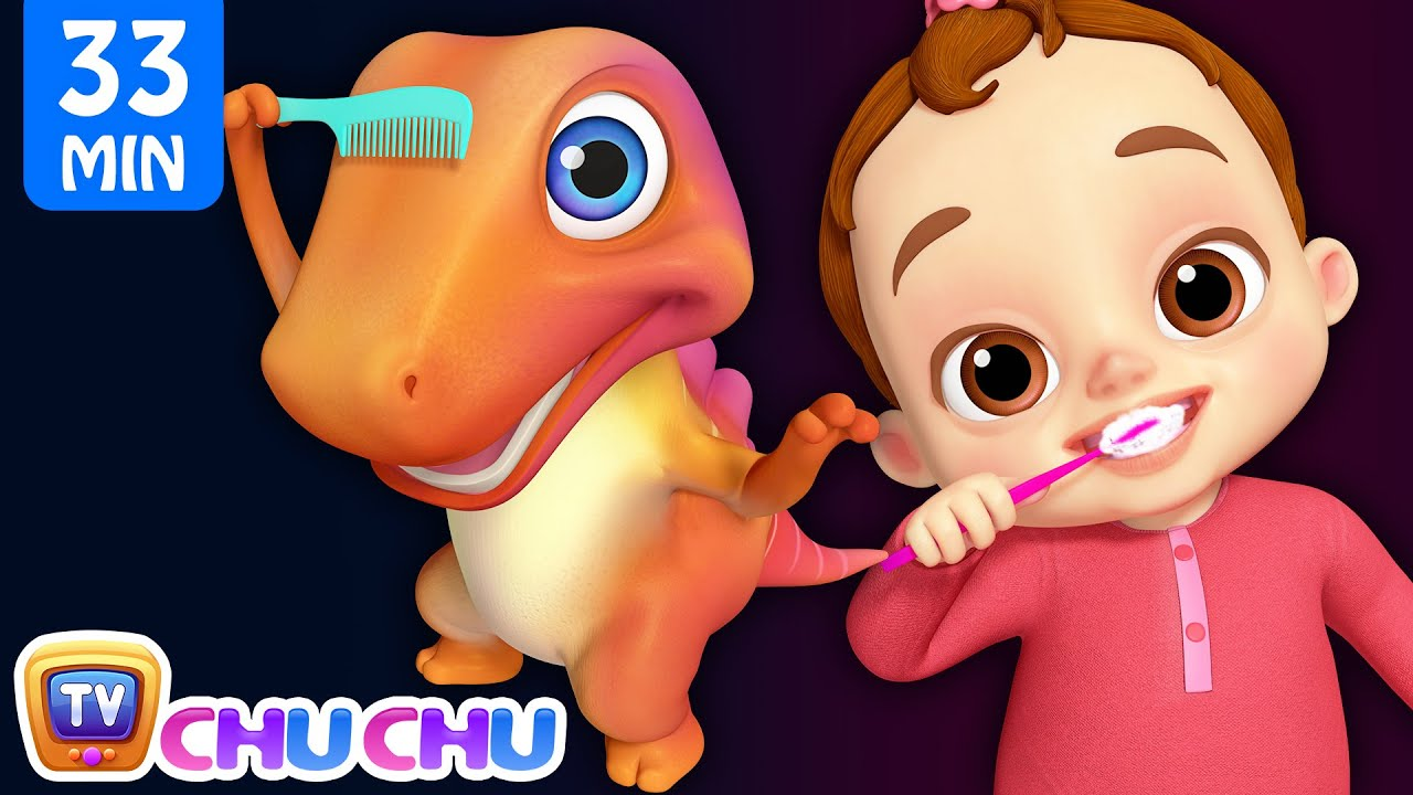This Is The Way We Brush Our Teeth Good Habits Song + More ChuChu TV 3D Nursery Rhymes & Kids Songs #1