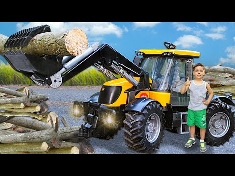 Funny Stories About Tractor JCB, Dump Truck And Other Cars Bruder - Compilation | Toys 2 Boys