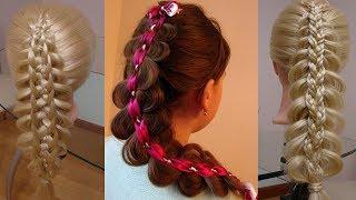 Косы с косичками  Косы для девочки  курс петения кос hair tuturial