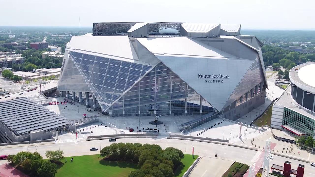Mercedes benz stadium youtube for Mercedes benz dome