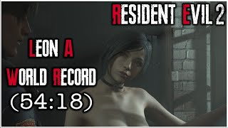 Resident Evil 2 Remake - Leon A Speedrun World Record - 54:18