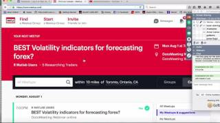 Forecasting volatility in forex trading