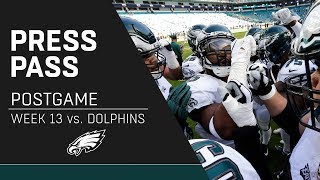 Eagles Players React to Loss to Dolphins | Eagles Press Pass