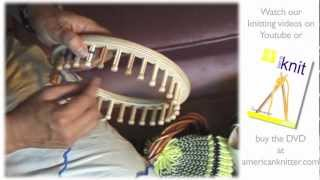 How to Knit a Beanie Hat, Socks & More Round Loom Knitting How To Video
