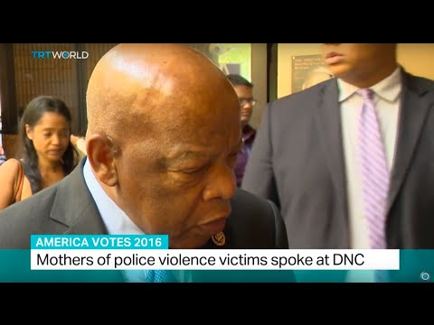 America Votes 2016: Interview with Georgia senator and civil rights leader John Lewis at the DNC