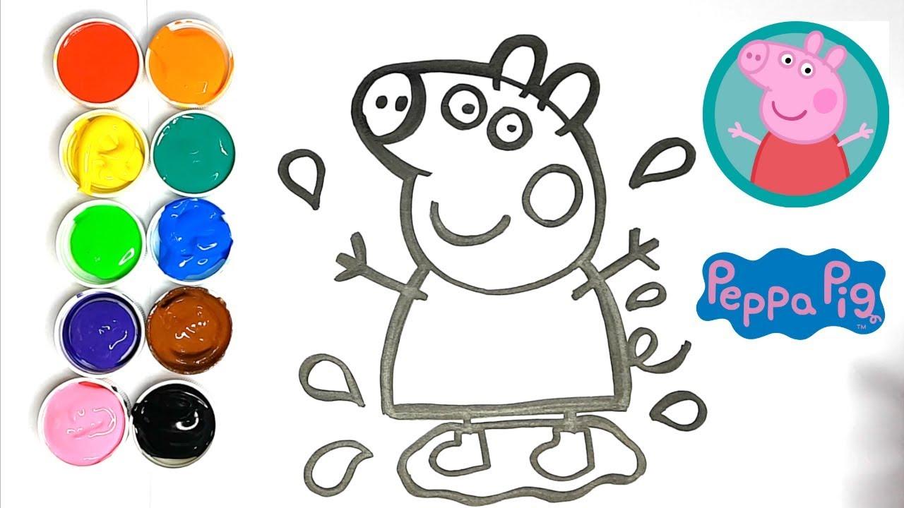 Dessin Pour Bebe Comment Dessiner Et Colorier Peppa Pig Kiwi Kids Coloriage Youtube
