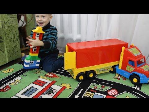 Игрушка машинка Wader Super Truck большой грузовик с прицепом