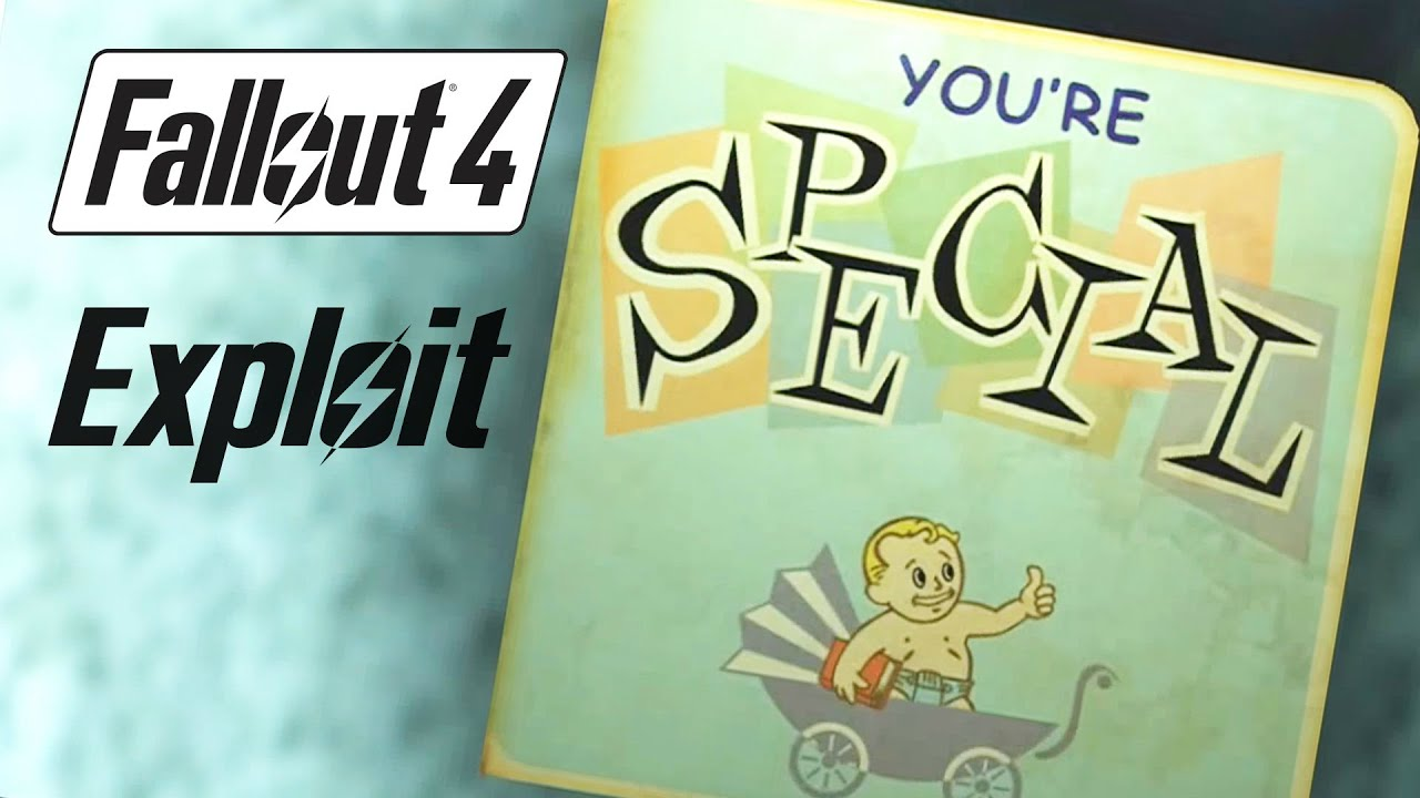 fallout exploit max out your special skills right away fallout 4 exploit max out your special skills right away