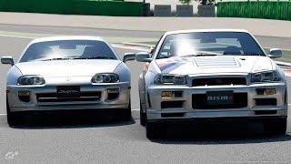 直6エンジン対決 スープラ(2JZ) Vs. GT-R(RB26) GTsport