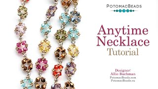 Anytime Necklace - DIY Jewelry Making Tutorial by PotomacBeads
