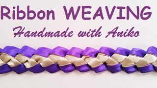 Repeat youtube video DIY Ribbon weaving