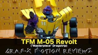 TransFormMission TFM M-05 Revolt (aka Transformers Masterpiece Dragstrip) Review
