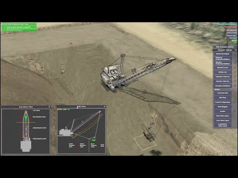 Dragline Bucyrus Erie - Training Simulator (5DT - Fifth Dimension Technologies)
