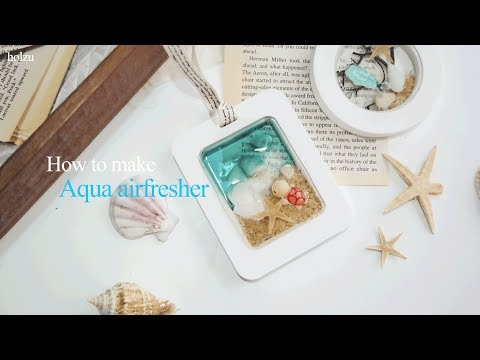 how to make aqua airfresher for summer 아쿠아석고방향제 만들기