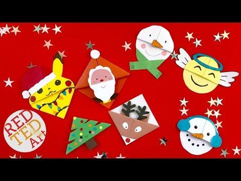 6 Christmas Corner Bookmark Designs - DIY Kawaii Bookmarks for Christmas