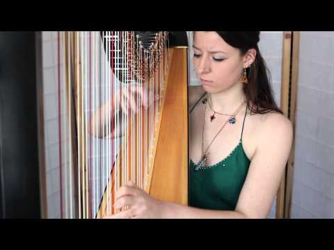 Girl's beautiful harp performance of Fairy Fountain [Zelda OOT]