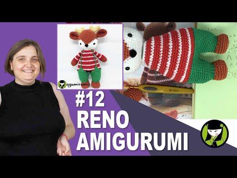 RENO AMIGURUMI 12 tutorial navideño a crochet