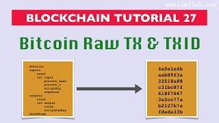 Blockchain tutorial 27: Bitcoin raw transaction and transaction id