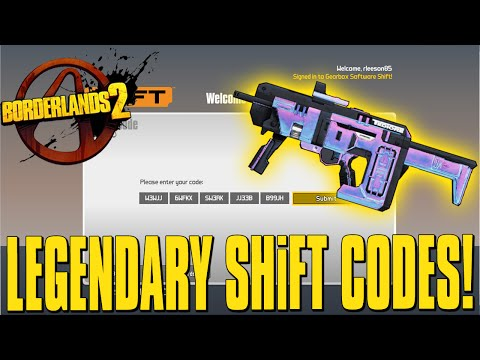 Borderlands 2 pre sequel heads amp skins legendary weapons shift codes
