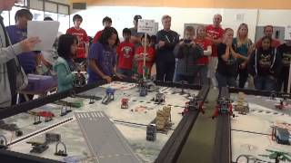 FLL 2013 Nature's Fury.  FLL & Beyond: 2 squared + 3 (Team 19) scores 433 in SB Practice Tournament