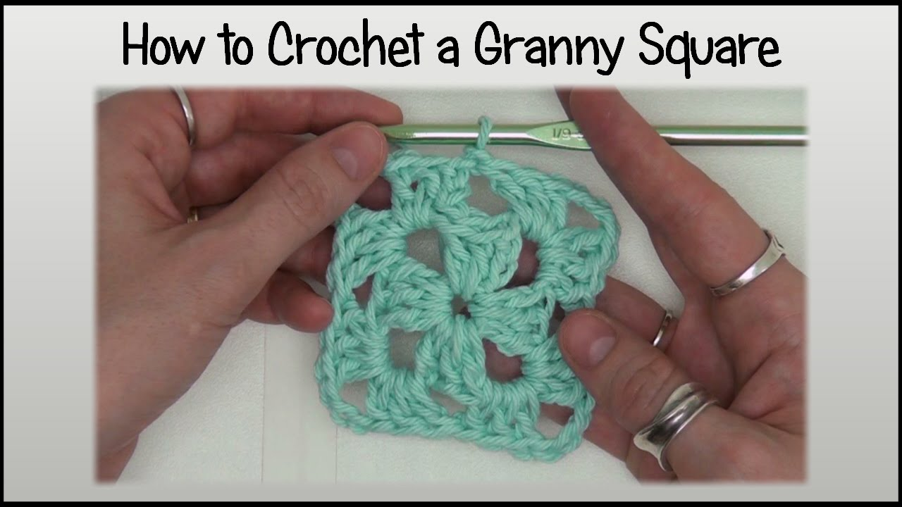 How To Crochet An Easy Granny Square Block Doovi