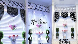 DIY NO SEW KITCHEN WINDOW TREATMENT|EASY HOME DECOR IDEA 2019