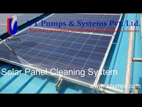 Solar Panel Cleaning System By UT Pumps & Systems Pvt Ltd