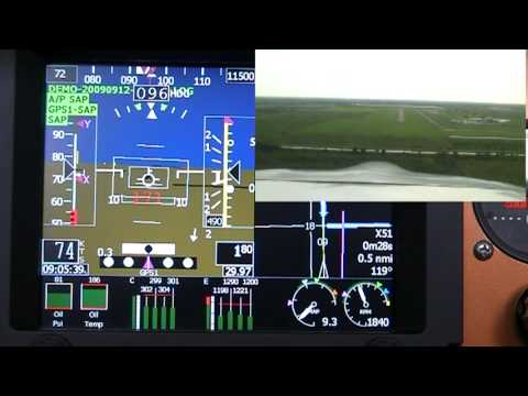 Landing Approach via GRT Highway In The Sky EFIS feature