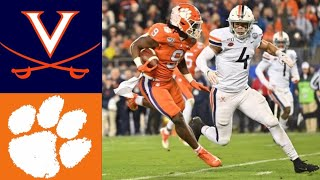 #23 Virginia vs #3 Clemson ACC Championship First Half Highlights | College Football Highlights