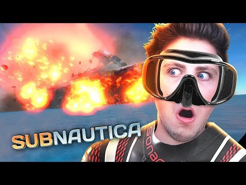 blowing up my spaceship :(  | Subnautica Ep 2 (FULL RELEASE)