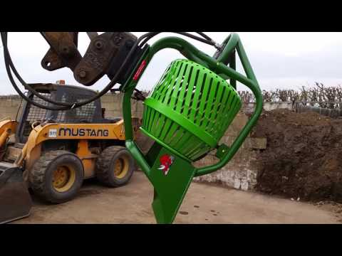 SOIL WASTE RECYCLING SCREENER TROMMEL FOR DIGGER EXCAVATOR