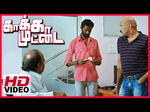 Kaakka Muttai Tamil Movie | Scenes | Ramesh Thilak Blackmail Babu Antony With The Video
