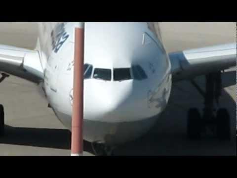 Lufthansa Airbus 340 taxing gate C6 at Ben Gurion airport-Israel