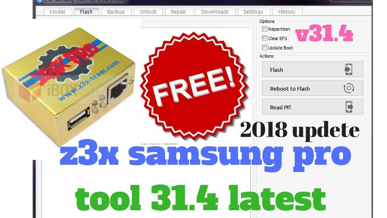 z3x samsung pro tool 31 4 latest setup 2018