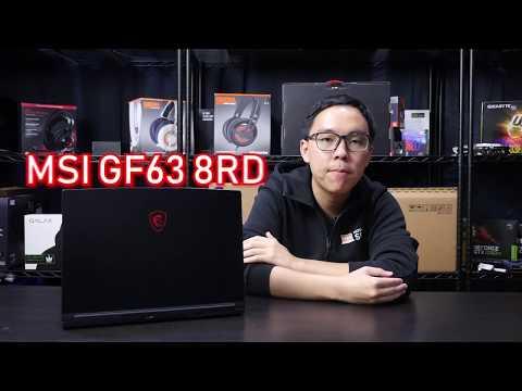 Review - MSI GF63 8RD เกมมิ่งโน้ตบุ๊คขอบจอบาง สเปคแรง ราคาคุ้ม i7-8750H + GTX 1050Ti