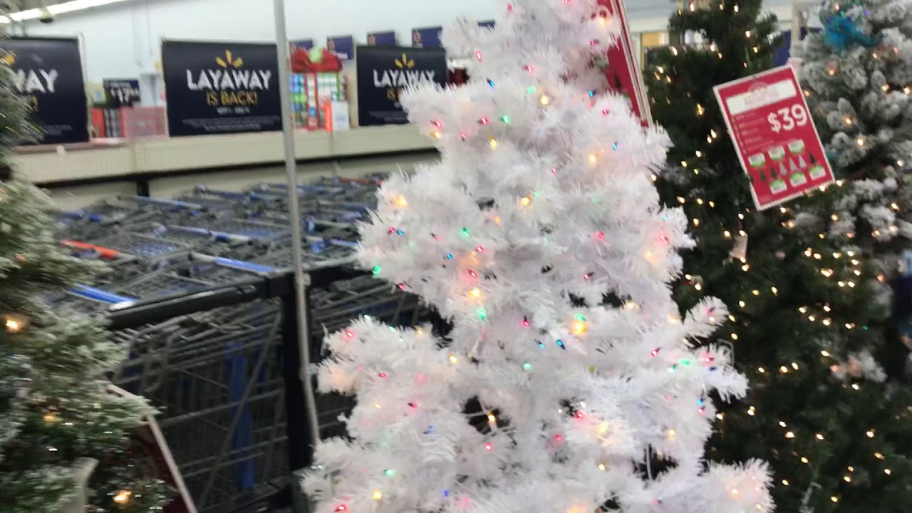 Really Nice Christmas Trees at Walmart - YouTube