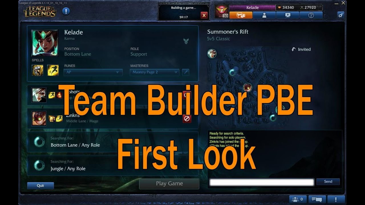 First look of Teambuilder on League of Legends PBE - YouTube