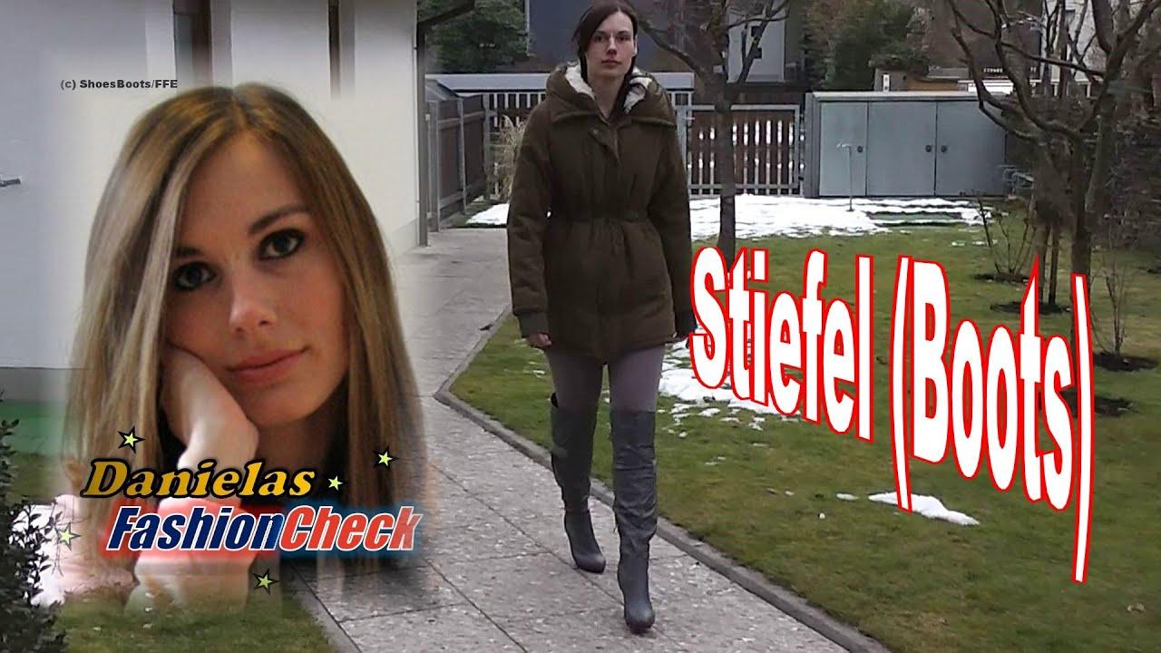 Danielas FashionCheck #029: Stiefel (Overknee Boots, High Heel, Plateau), Mini Kleid